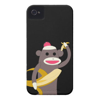 Sock Monkey with Banana Swords iPhone 4 Covers