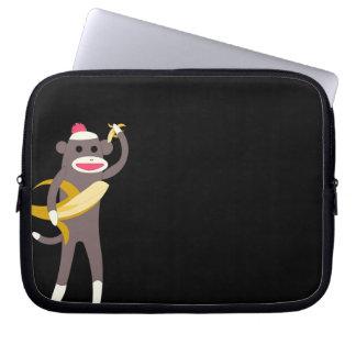Sock Monkey with Banana Swords Computer Sleeve