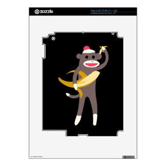 Sock Monkey with Banana Swords iPad 2 Decals