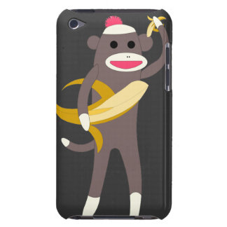 Sock Monkey with Banana Swords IPod Case