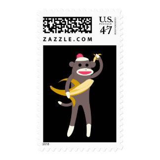 Sock Monkey with Banana Swords US Postage 44 Cents