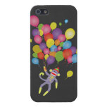 Sock Monkey with colorful balloons Covers For iPhone 5