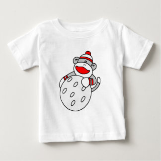 Sock Monkey with Golf Ball Baby T-Shirt
