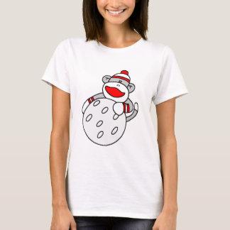 Sock Monkey with Golf Ball T-Shirt