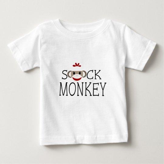 Sock Monkey within Wording Baby T-Shirt
