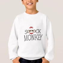 Sock Monkey within Wording Sweatshirt