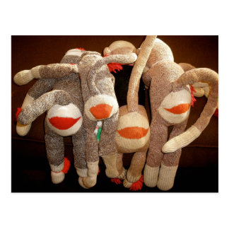 sock monkeys flipside postcard