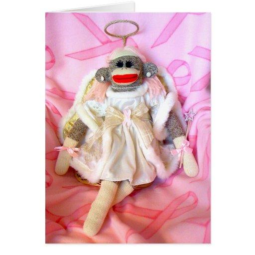 Sock Monkeys for the Cure Angel Card