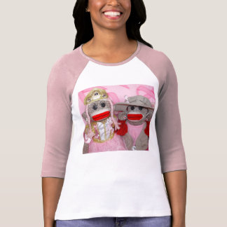 Sock Monkeys for the Cure Ladies 3/4 Sleeve Raglan T-Shirt