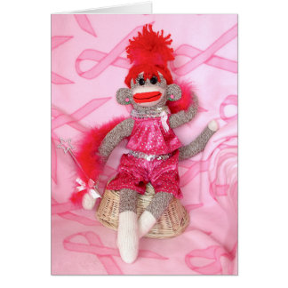 Sock Monkeys for the Cure Pink Denise Card
