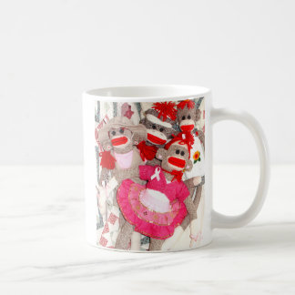 Sock Monkeys for the Cure Pink Ribbon Mug