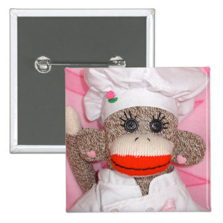 Sock Monkeys for the Cure Rose  Pin