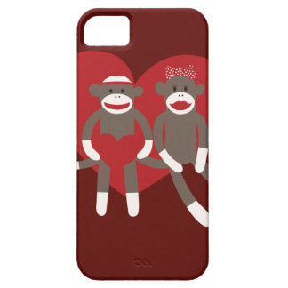 Sock Monkeys in Love Hearts Valentine s Day Gifts iPhone 5 Covers
