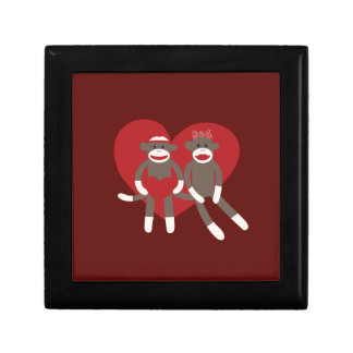Sock Monkeys in Love Hearts Valentine's Day Gifts Gift Box