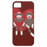 Sock Monkeys in Love Hearts Valentine's Day Gifts iPhone 5 Case