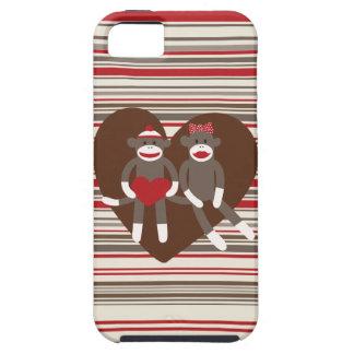 Sock Monkeys in Love Valentine s Day Heart Gifts iPhone 5 Case
