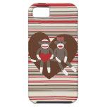 Sock Monkeys in Love Valentine's Day Heart Gifts iPhone 5 Case