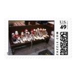 Sock Monkeys on a Bench Stamp