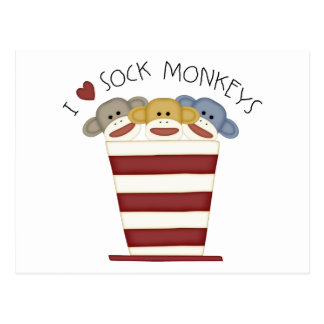Sock Monkeys Postcard