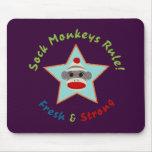 Sock Monkeys Rule! Mousepad