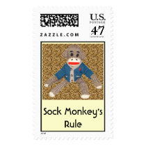Sock Monkey's Rule Postage