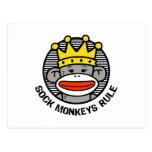 Sock Monkeys Rule Postcard