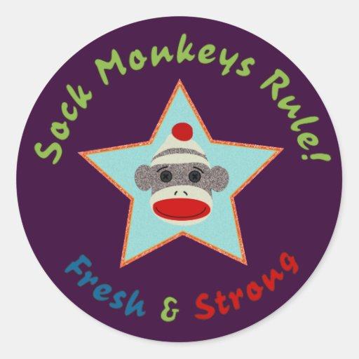 Sock Monkeys Rule! Sticker