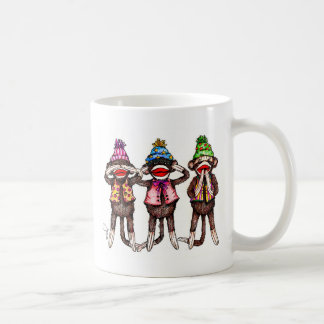 Sock Monkeys-See, Hear, Speak No Evil Coffee Mug