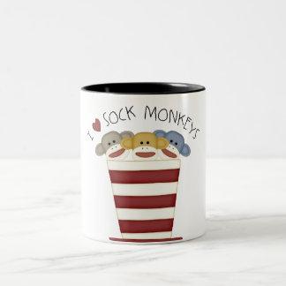 Sock Monkeys Two-Tone Coffee Mug