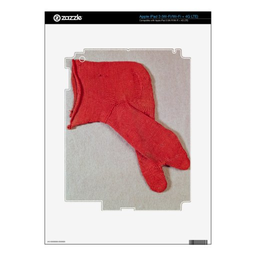 Sock, one of a pair from Egypt, Egypto-Roman perio iPad 3 Decal