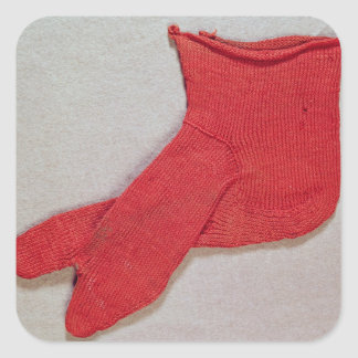 Sock, one of a pair from Egypt, Egypto-Roman perio Square Sticker