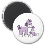 Sock Ponies Pink 2 Inch Round Magnet