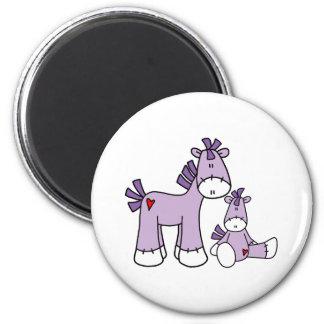 Sock Ponies Pink Fridge Magnet