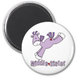 Sock Pony Middle Sister 2 Inch Round Magnet