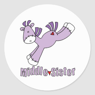 Sock Pony Middle Sister Classic Round Sticker