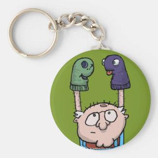 Sock Puppet Conspiracy Keychain