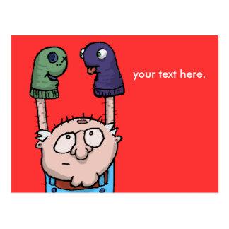 Sock Puppet Conspiracy Postcard