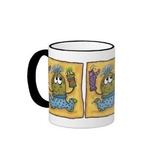 Sock Puppet Fun Ringer Coffee Mug