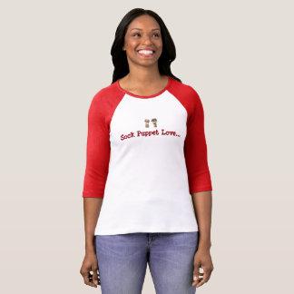 Sock Puppet Love 3/4 Sleeve Raglan T-Shirt