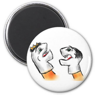 Sock Puppets 2 Inch Round Magnet
