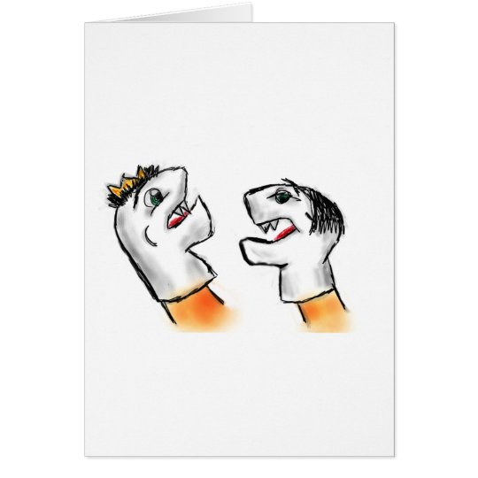 Sock Puppets Card