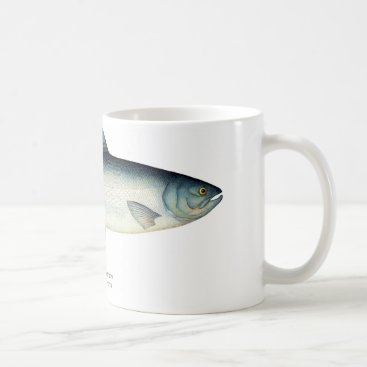 Coffee Themed Sockeye/Red Salmon Fish Coffee Mug