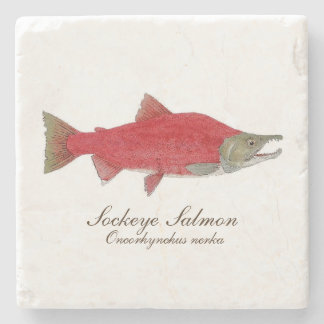 Sockeye Salmon Coaster 1 of 4 set