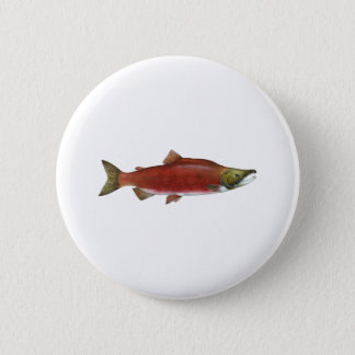 Sockeye Salmon Pinback Button