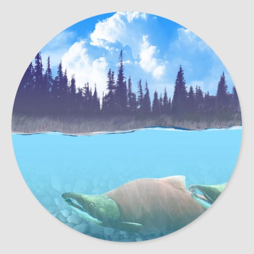 Sockeye Salmon Stickers