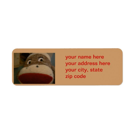 sockmonkey address label