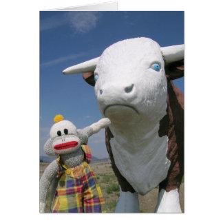 SockMonkey and Friend Card