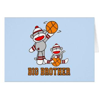 Sockmonkey Basketball Big Brother Greeting Card