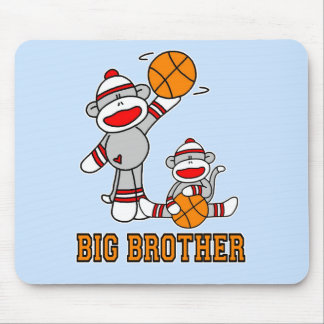 Sockmonkey Basketball Big Brother Mouse Pad