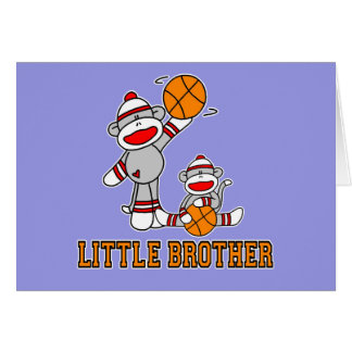Sockmonkey Basketball Little Brother Card